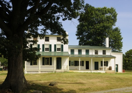 The hollingsworth Mansion was restored a few years ago thanks to significant contributions from Mrs. Helen Warburton