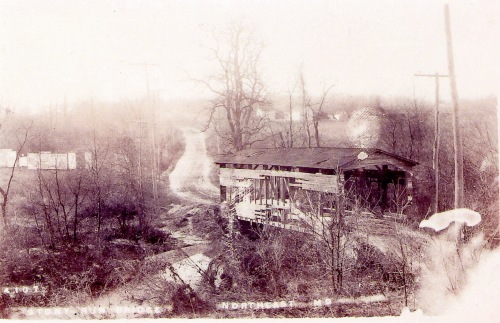 Gilpin Falls covered bridge about 1910